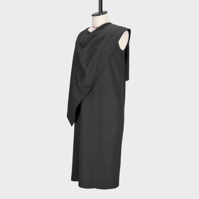 Womb Drape Shawl Dress Polyester Black M