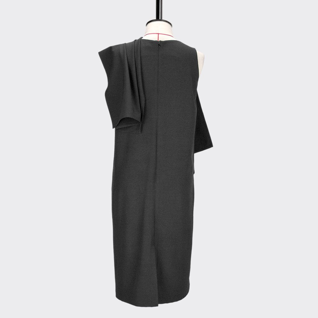 Womb Drape Shawl Dress Polyester Black L