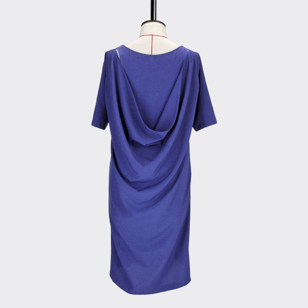 Back Drape Dress