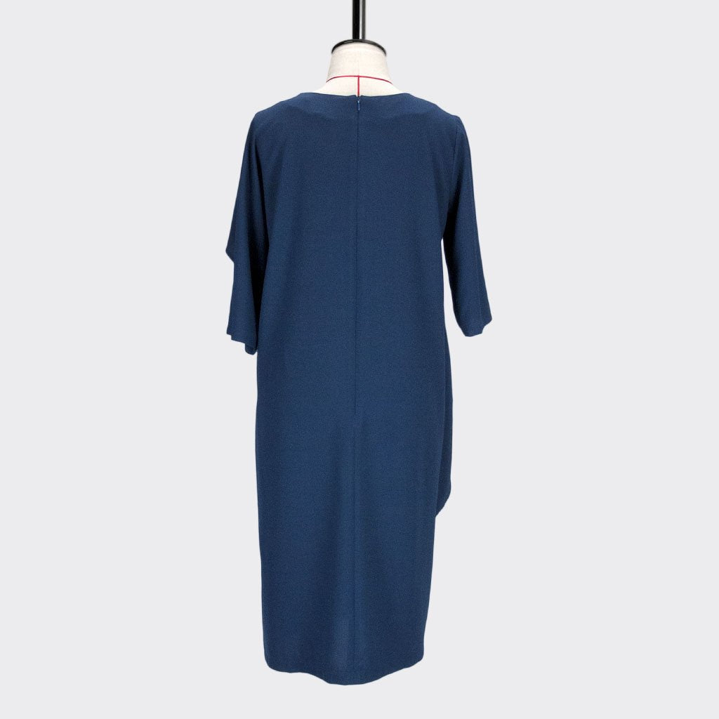 Womb Asymmetric Frill Sleeve Dress Polyester Blue L