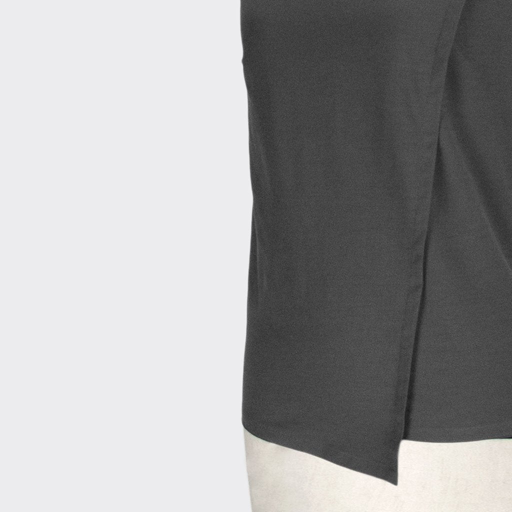 Womb Angular Toga Top Cotton Polyester Grey XL