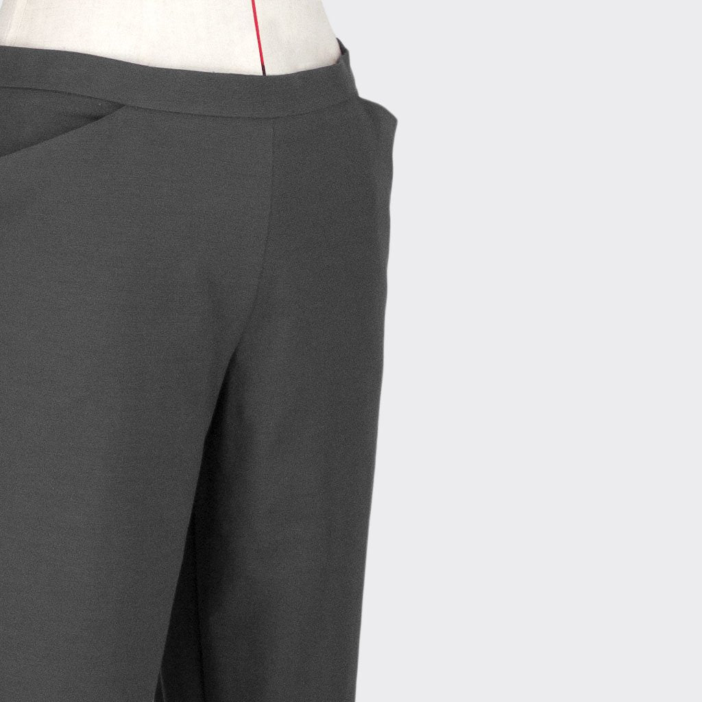 Womb Diagnonal Cut Tapered Pants Cotton Polyester Grey XL