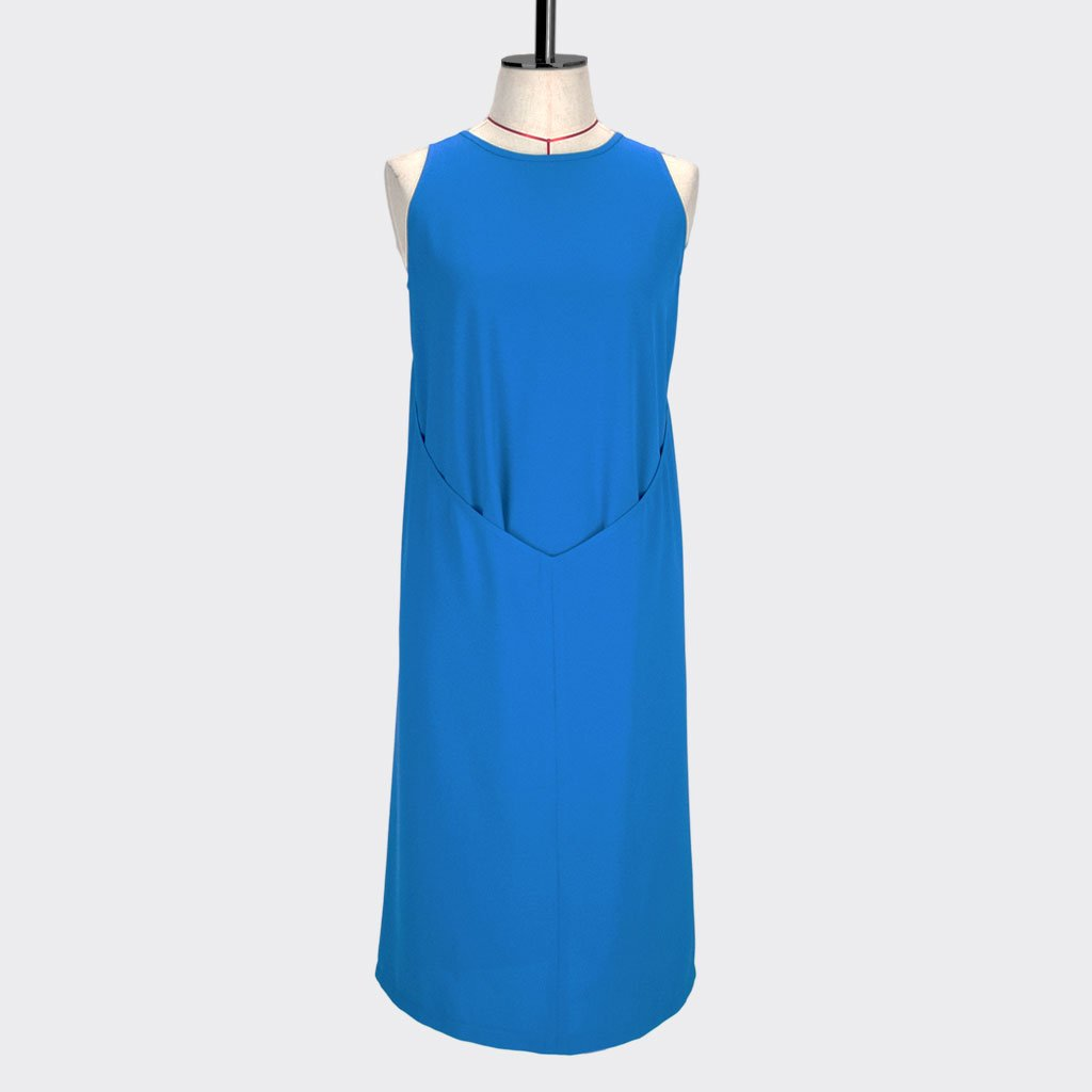 Womb  Layered Dress Polyester Blue S