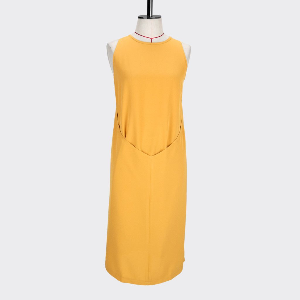 Womb Layered Dress Polyester Yellow S