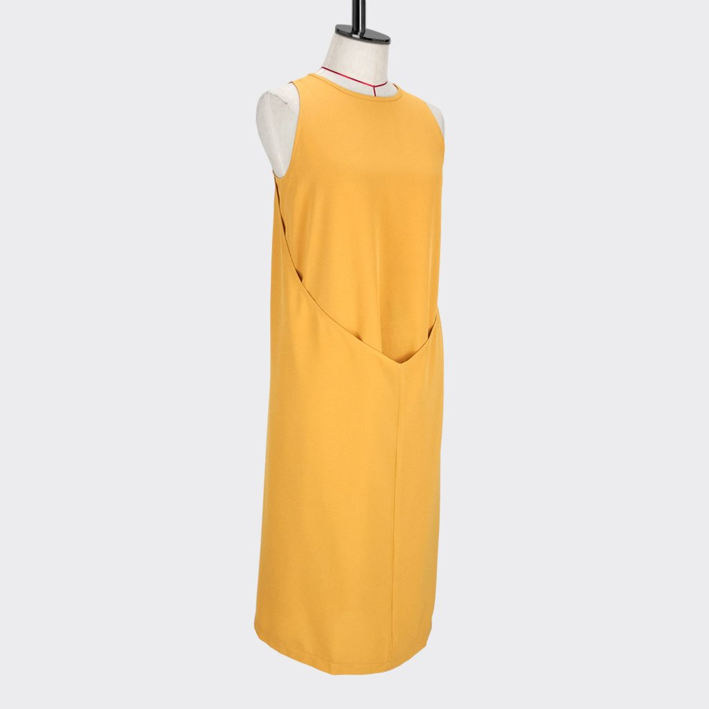 Womb Layered Dress Polyester Yellow M