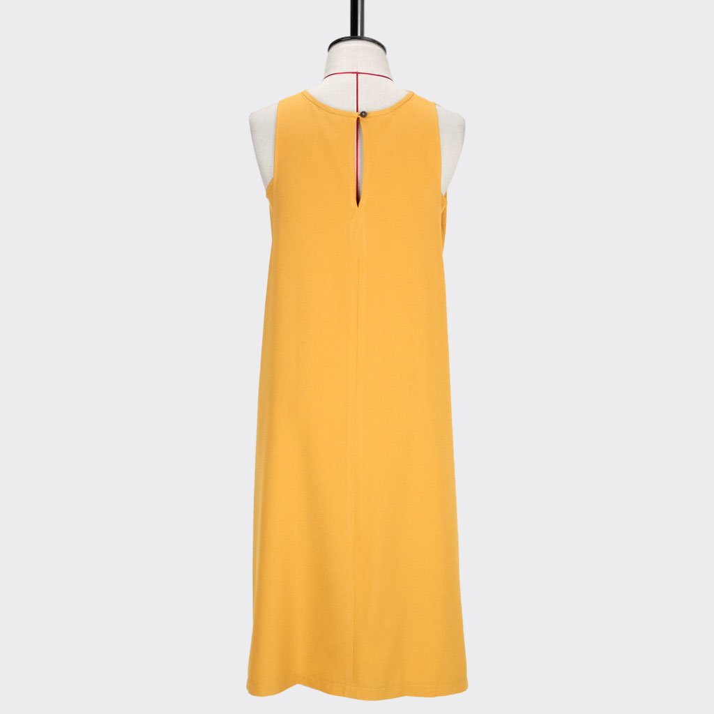 Womb Layered Dress Polyester Yellow L