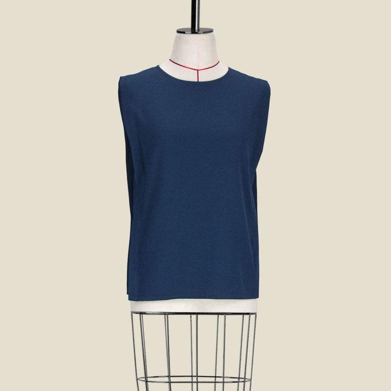 Womb Panel Blouse Polyester Blue S