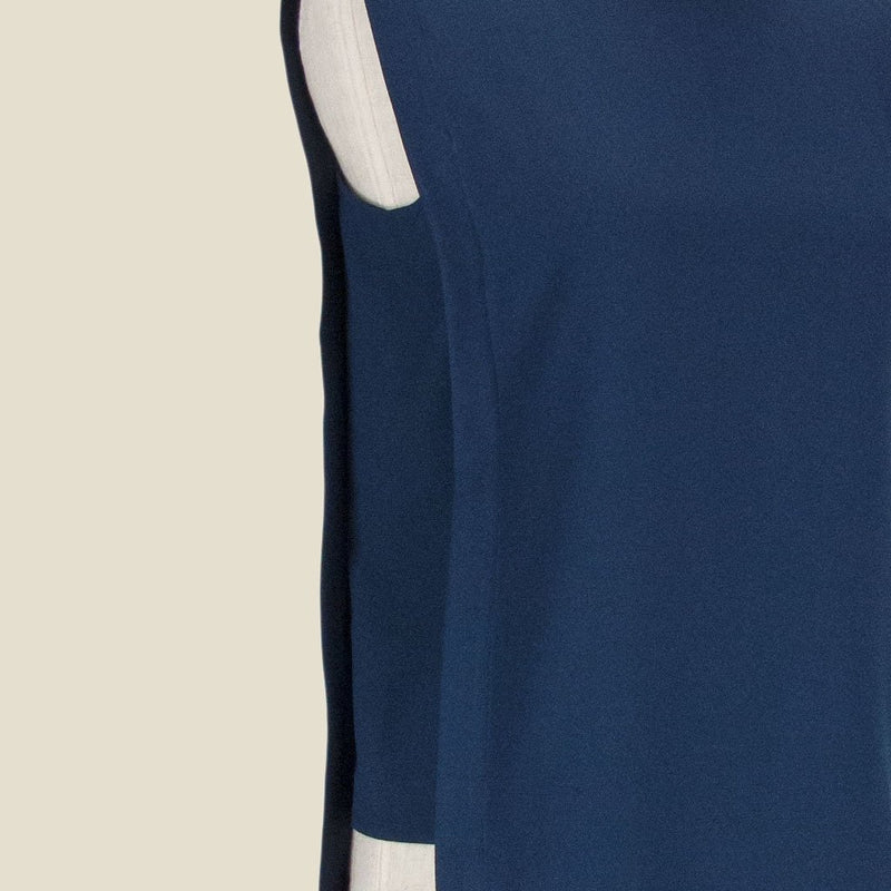 Womb Panel Blouse Polyester Blue XL