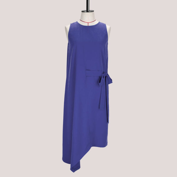 Womb Asymmetric Drape Dress Cupro Purple S