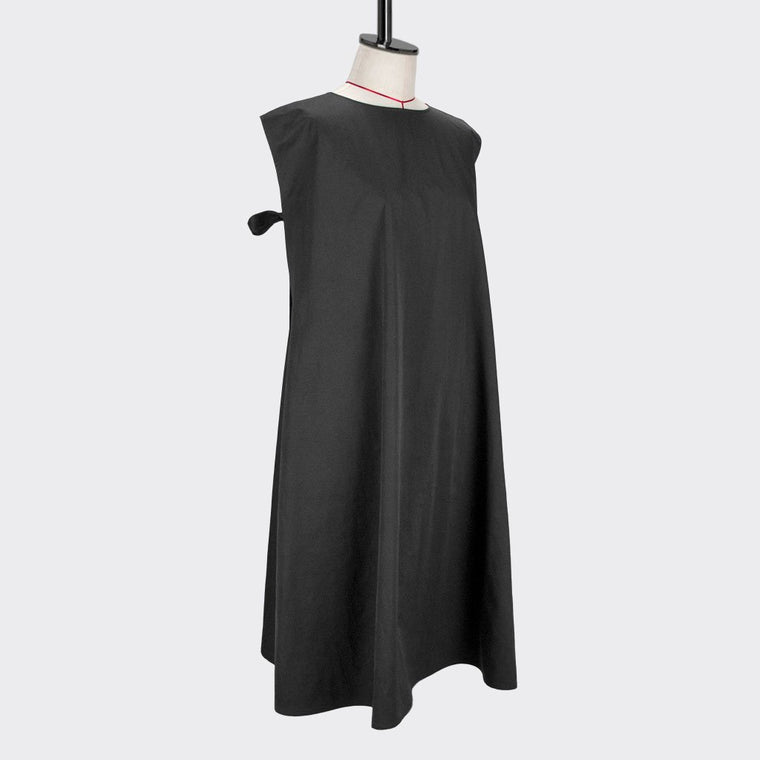 Womb Ruched Dress Polyester Cotton Black XL