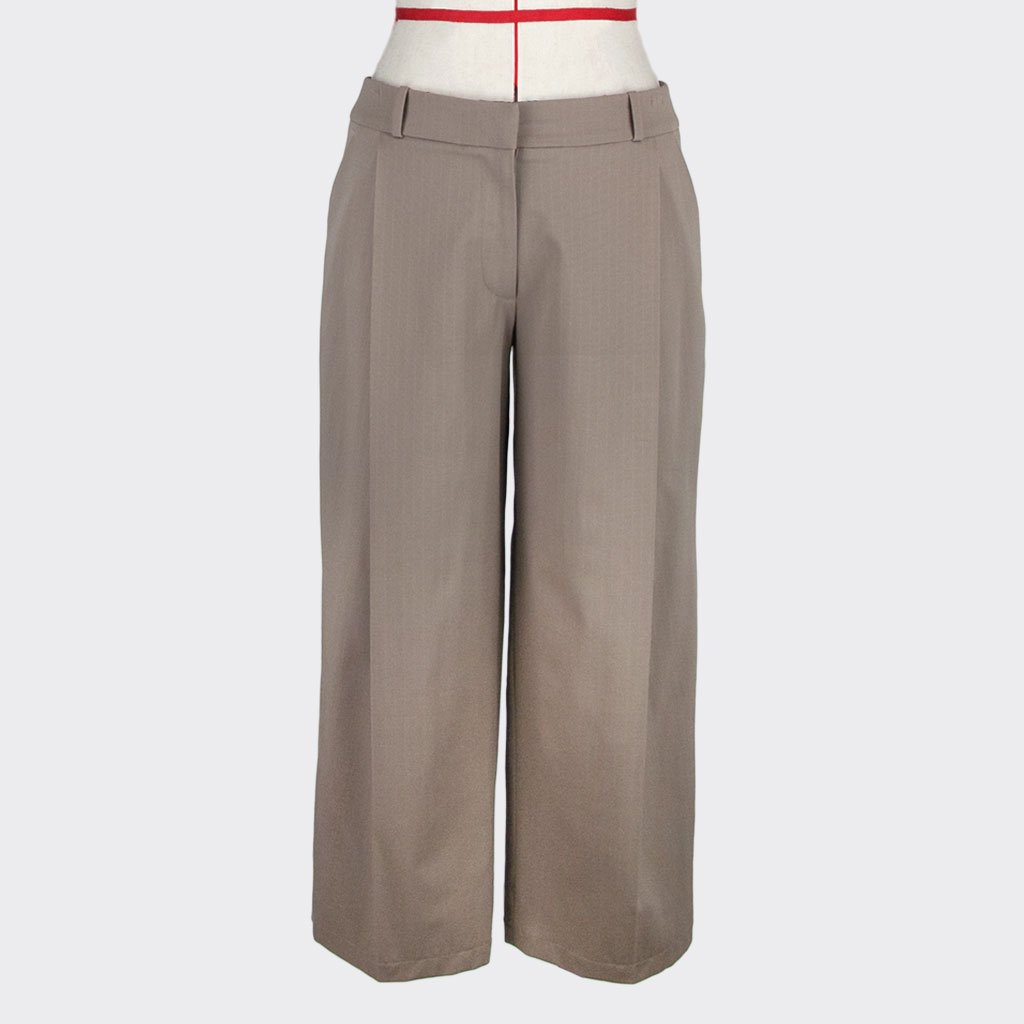 Womb Tapered Pinstripe Pants Cotton Polyester Khaki S