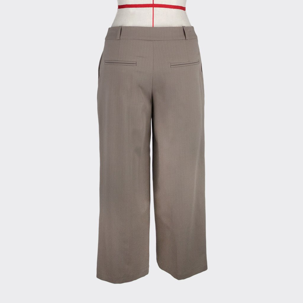 Womb Tapered Pinstripe Pants Cotton Polyester Khaki L