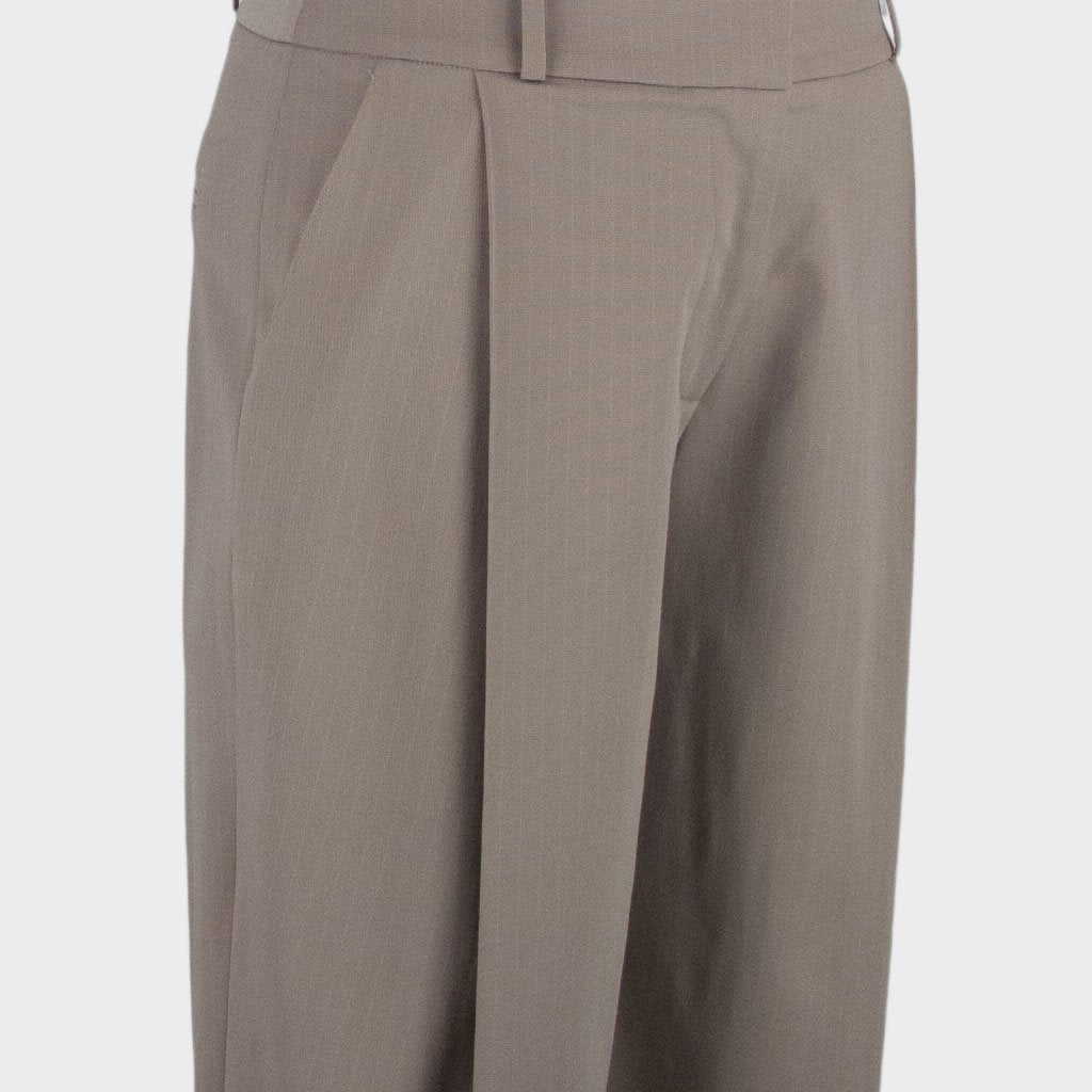 Womb Tapered Pinstripe Pants Cotton Polyester Khaki XL