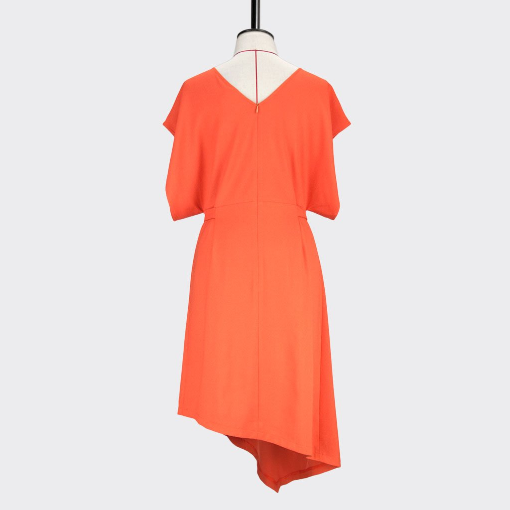 Womb Rectangle Angular Dress Polyester Orange L