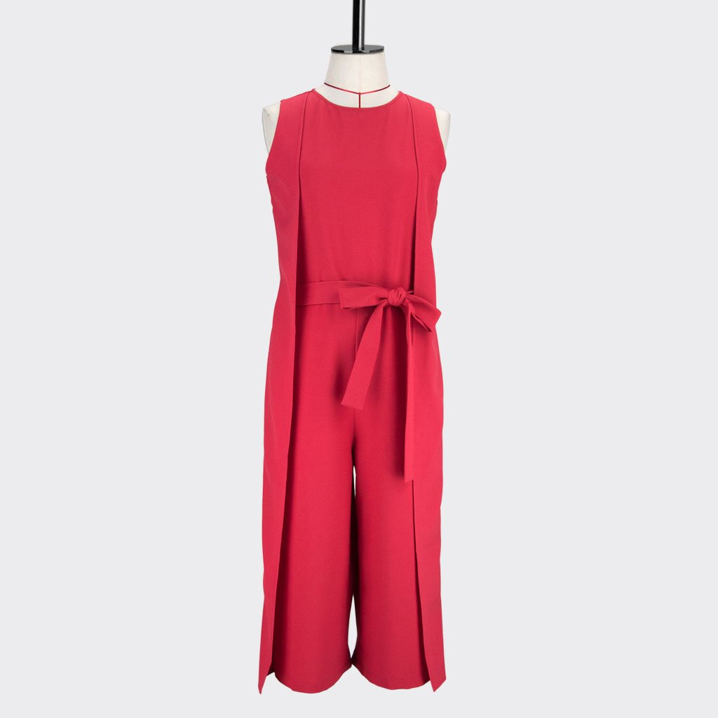 Womb Panel Jumpsuit Polyester Red S