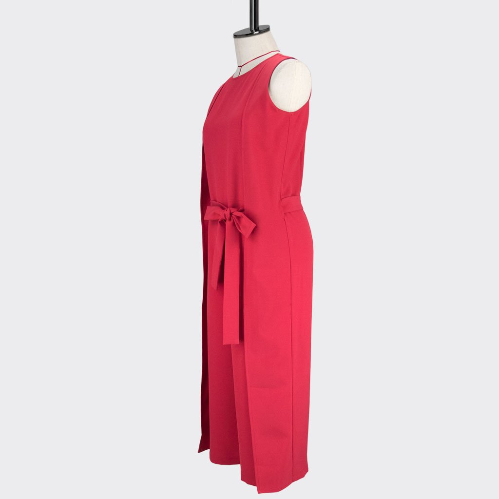 Womb Panel Jumpsuit Polyester Red M