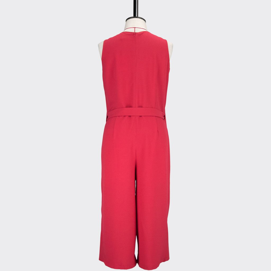 Womb Panel Jumpsuit Polyester Red L