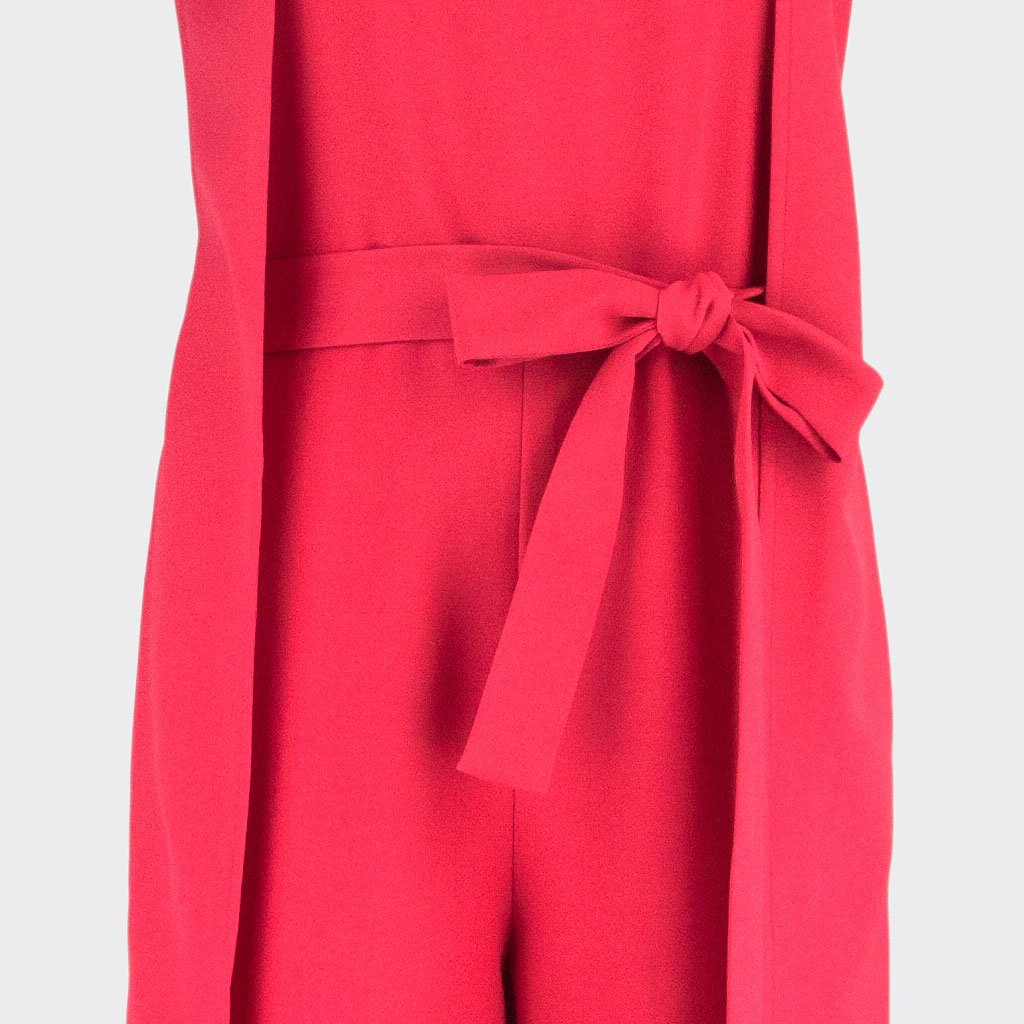 Womb Panel Jumpsuit Polyester Red XL