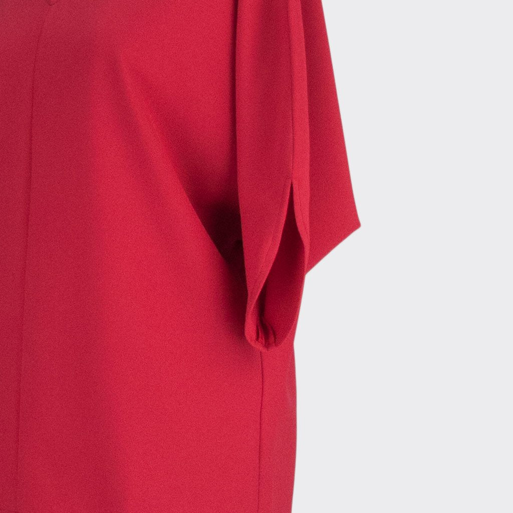 Womb Batwinged Sleeve Blouse Polyester Red XL