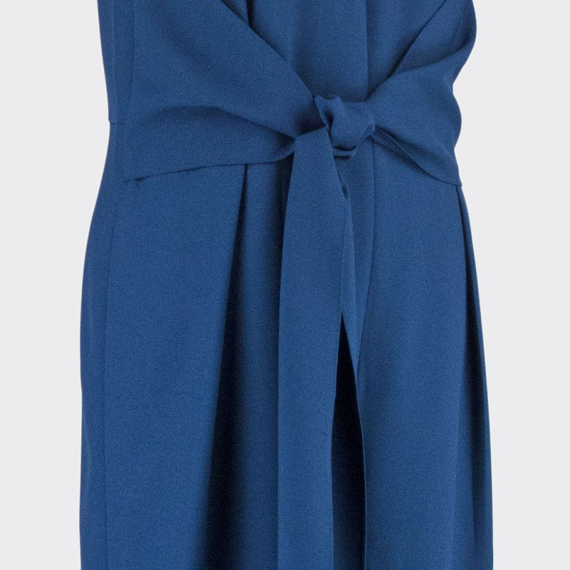 Womb Knotted Jumpsuits  Polyester Blue XL