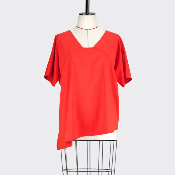 Womb Asymmetric Blouse Polyester Orange S