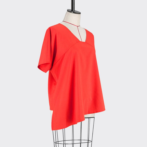 Womb Asymmetric Blouse Polyester Orange M