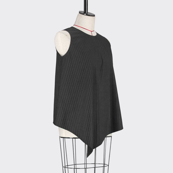 Womb Asymmetrical Sleeveless Top Polyester Black M