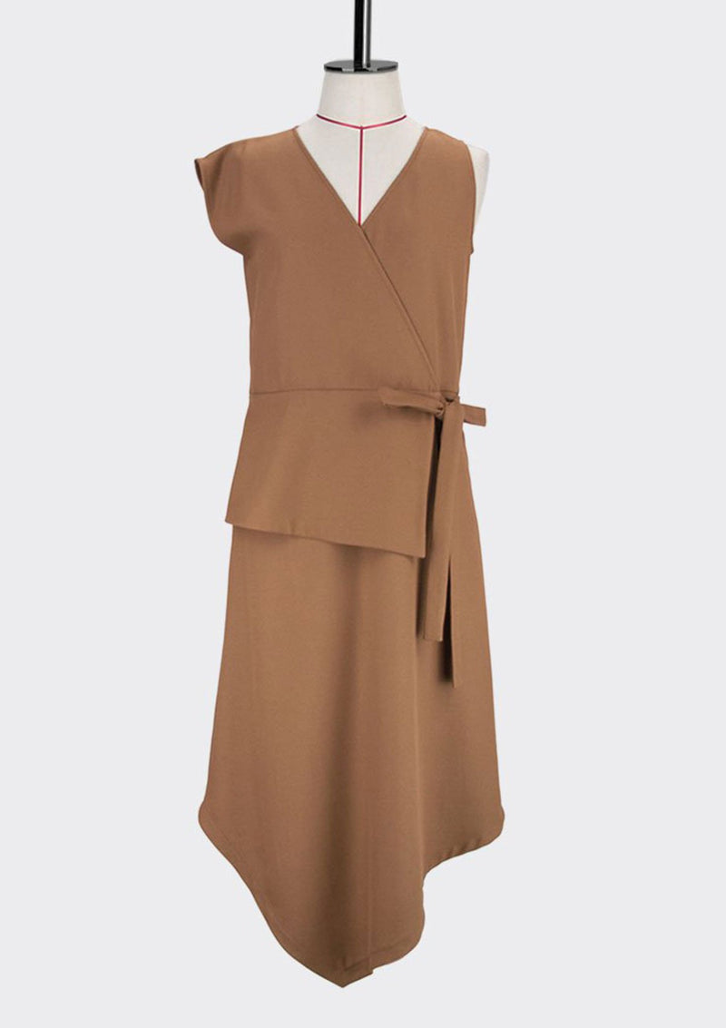 Angular Wrap Dress