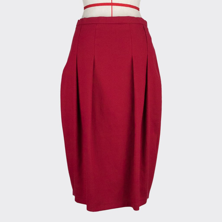 Cocoon Pleated Skirt