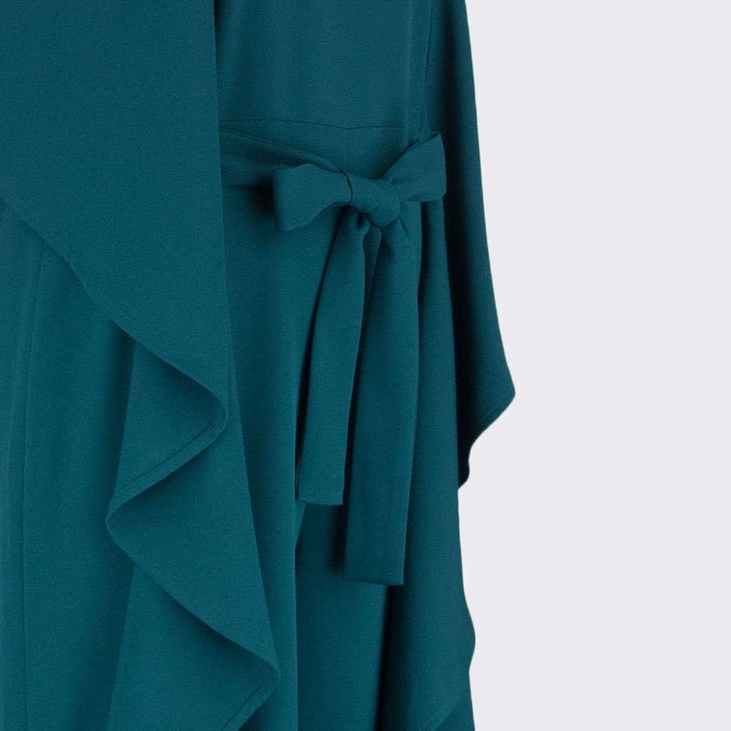 Womb Ruffle Jumpsuit Polyester Spandex Teal XL
