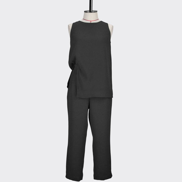 Womb Faux Two-Piece Jumpsuit Polyester Black S