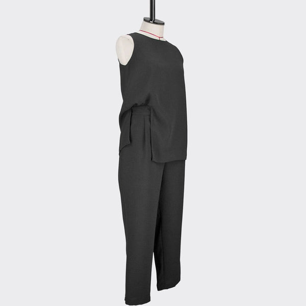 Womb Faux Two-Piece Jumpsuit Polyester Black M