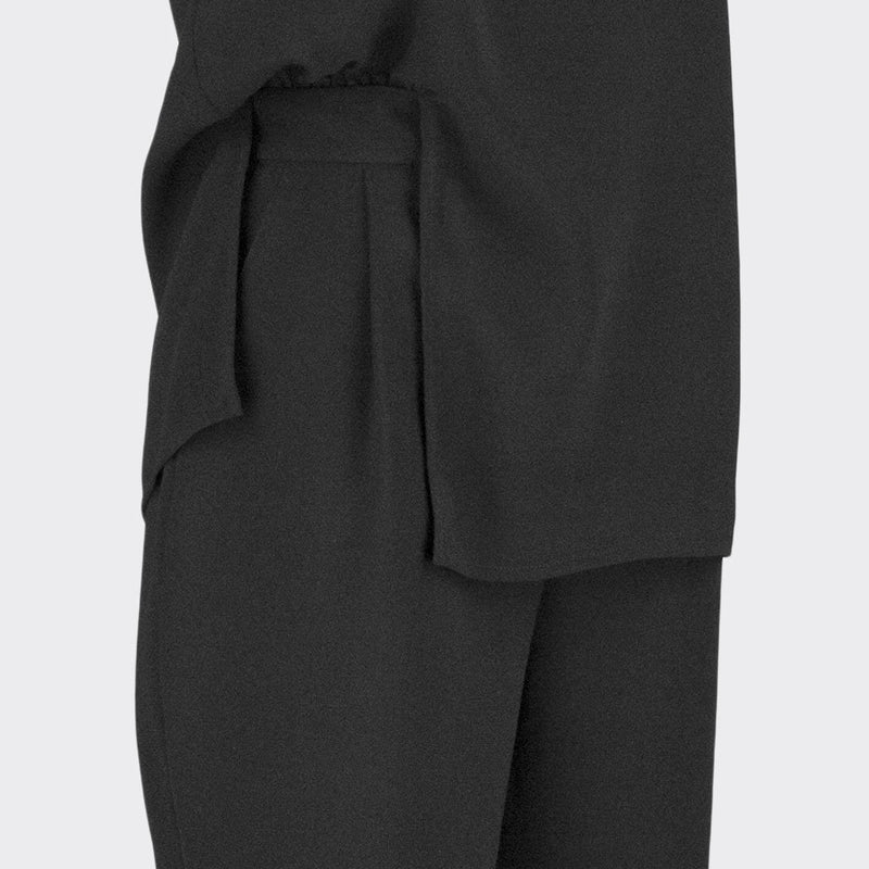 Womb Faux Two-Piece Jumpsuit Polyester Black XL
