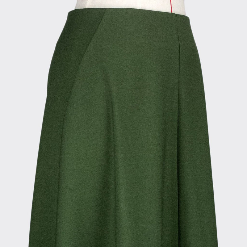 Womb Asymmetric Drape Skirt Polyester Rayon Green XL