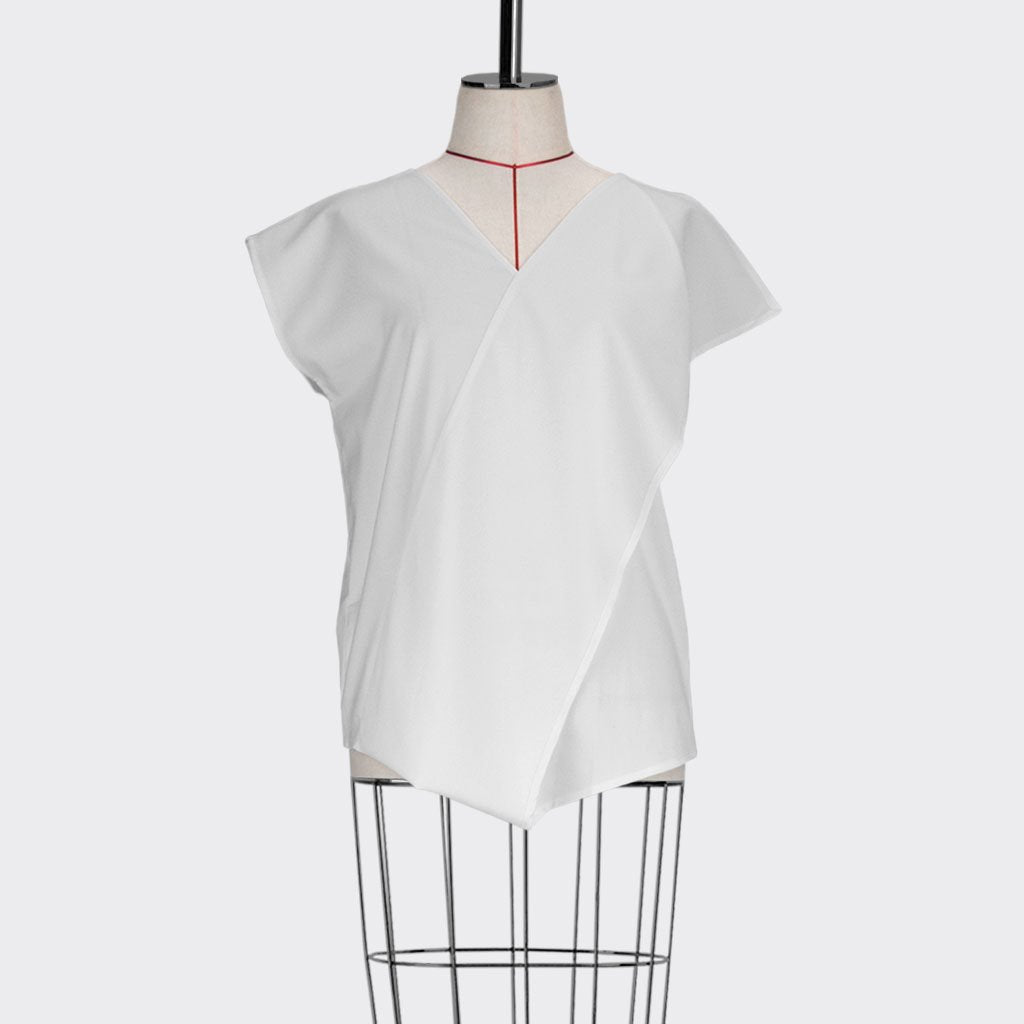 Womb Asymmetrical Top Polyester Rayon White S
