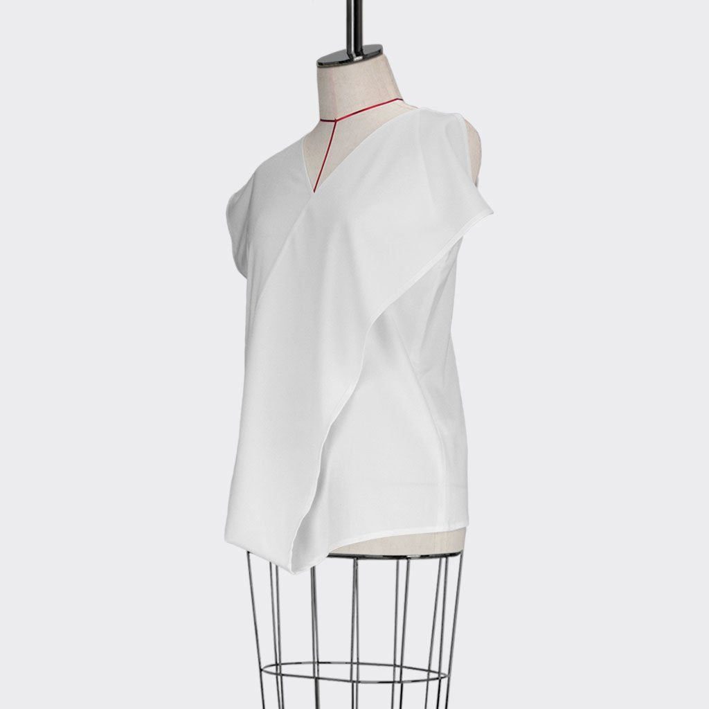 Womb Asymmetrical Top Polyester Rayon White M