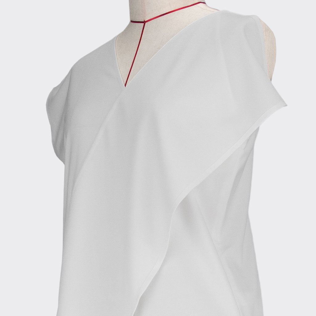 Womb Asymmetrical Top Polyester Rayon White XL