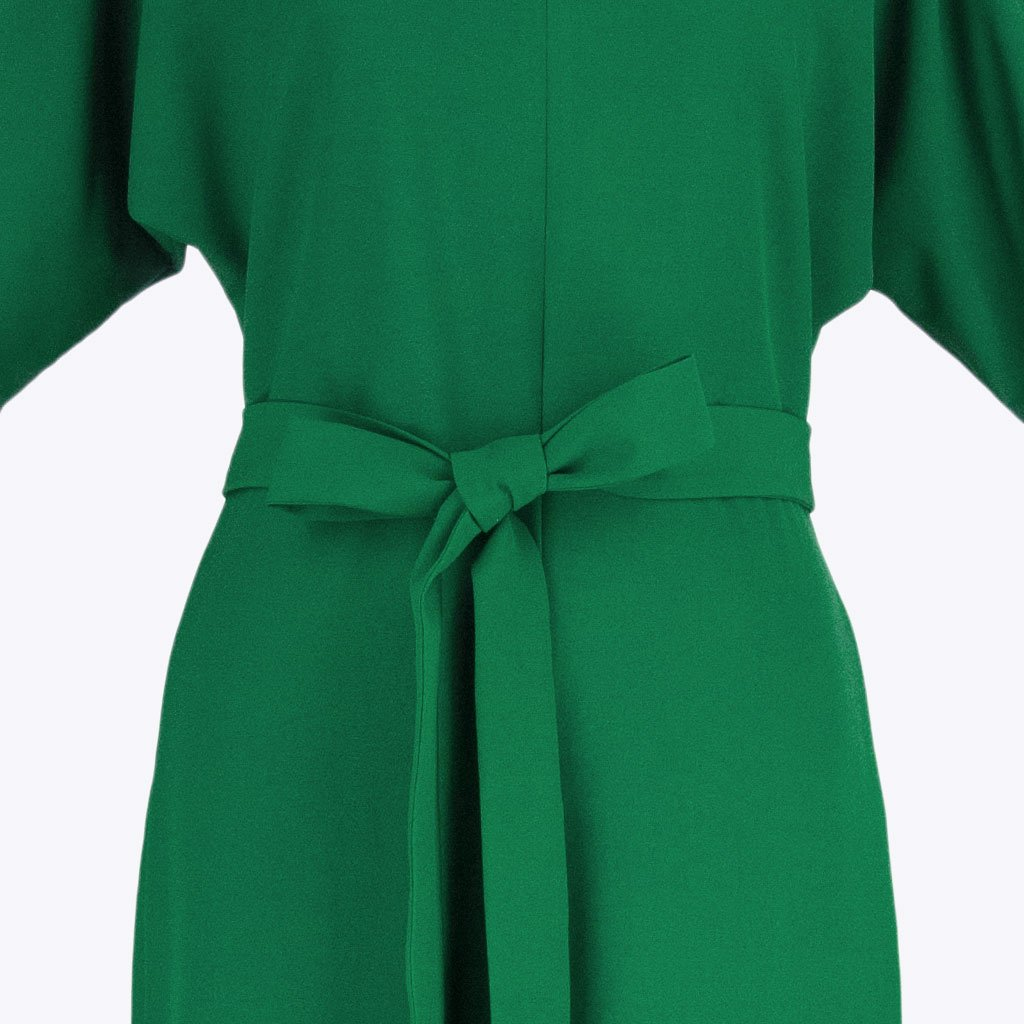 Womb Elbow Sleeve Jumpsuit Polyester Green XL