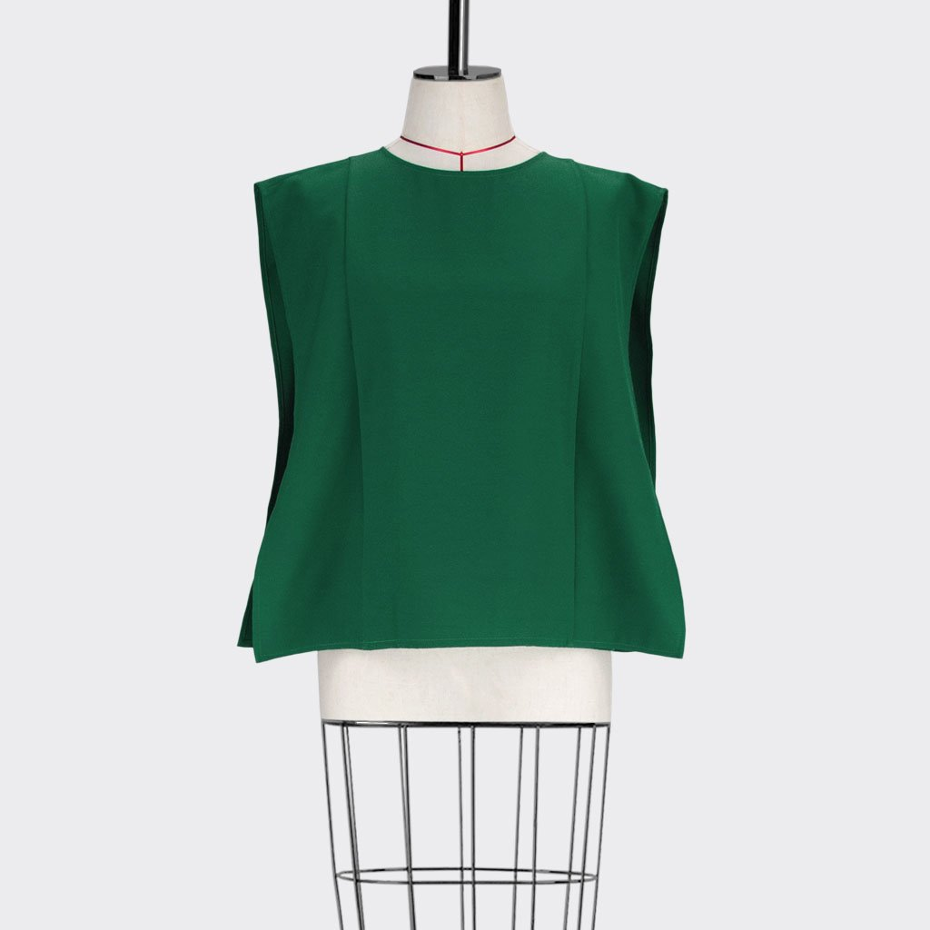 Womb Square Angular Top Polyester Green S