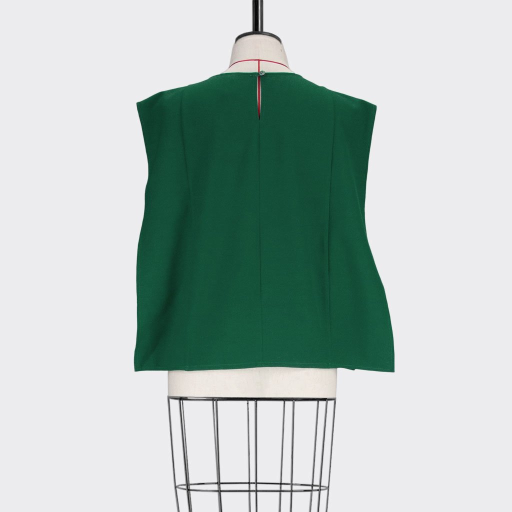 Womb Square Angular Top Polyester Green L