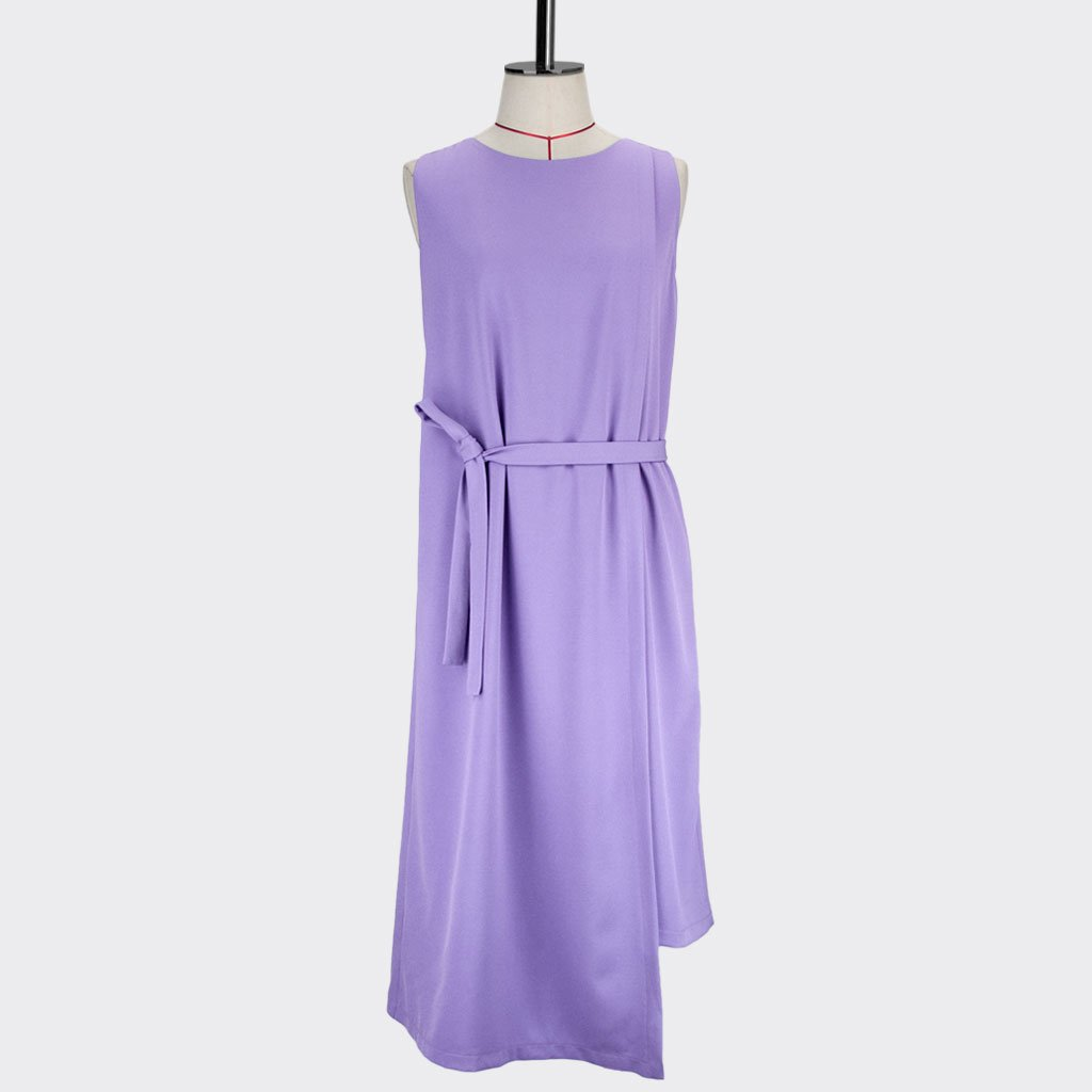 Womb Layered Crop Dress Polyester Purple S