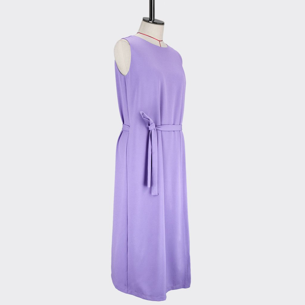Womb Layered Crop Dress Polyester Purple M