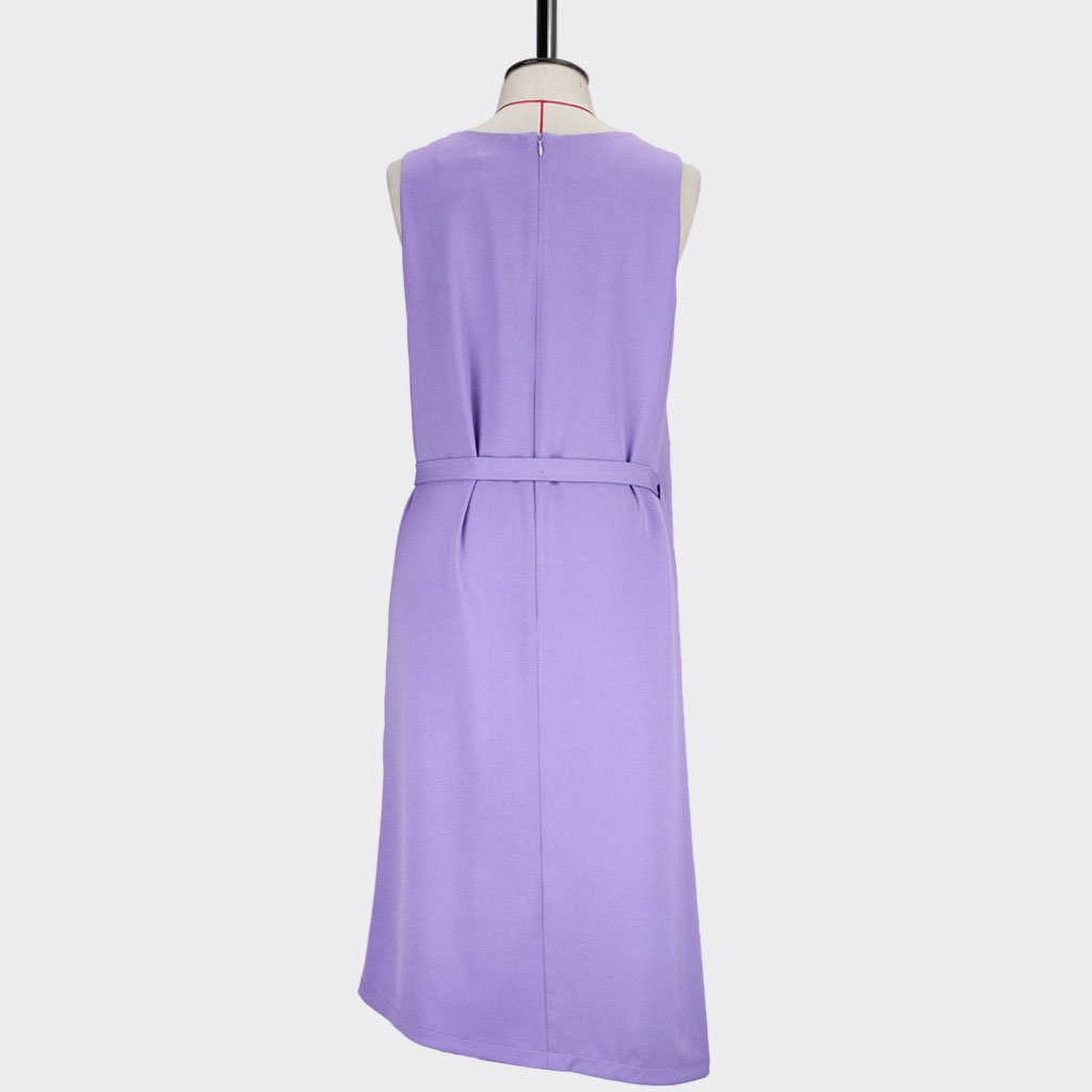 Womb Layered Crop Dress Polyester Purple L