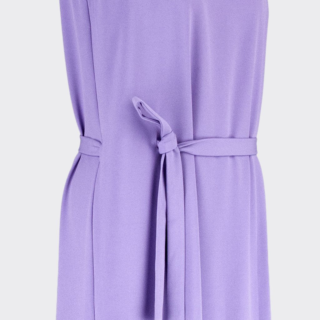 Womb Layered Crop Dress Polyester Purple XL