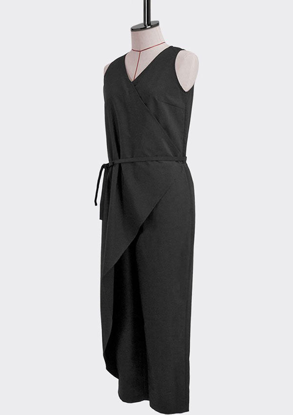 Asymmetric Wrap Jumpsuit