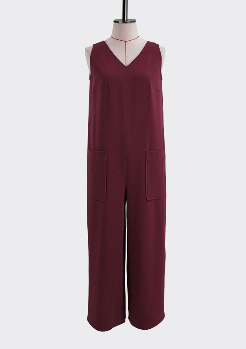 Resort 2018/19 Solitary Jumpsuit Polyester Rayon Burgundy S