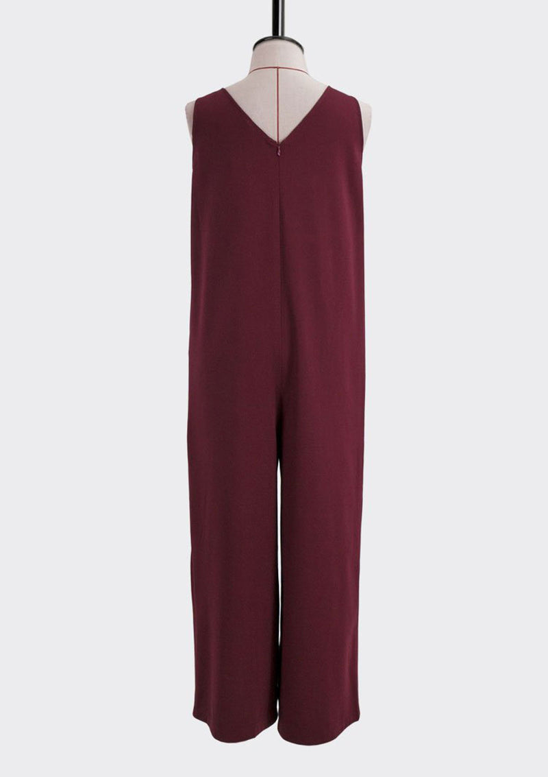 Resort 2018/19 Solitary Jumpsuit Polyester Rayon Burgundy L