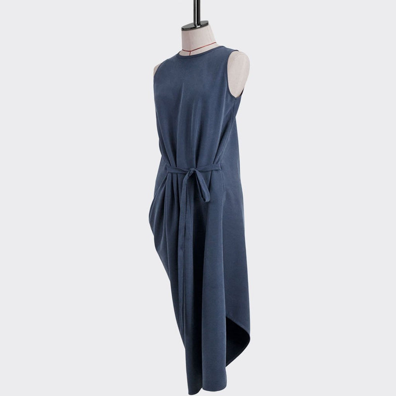 Resort 2018/19 Bias Drape Dress Tencel Polyester Purple M
