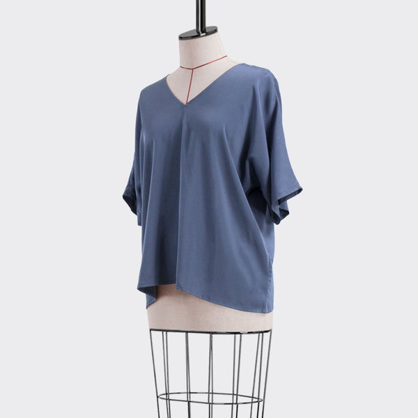 Pre-Spring 2019 Sleeve Strap Top Viscose Purple M