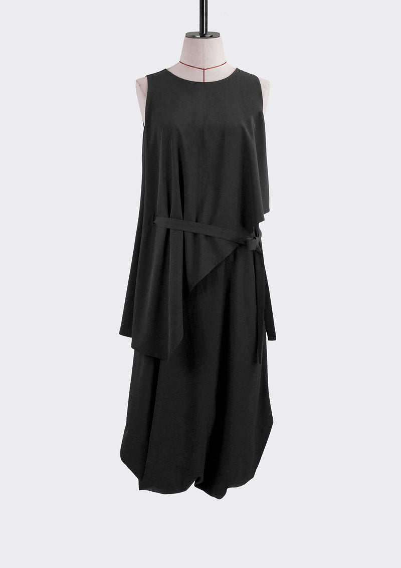 Fall 2019 Envelope Jumpsuit Dress Cotton Polyester Black S